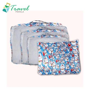 Travel Manila 6 in 1 Packing Pouch Bag Doraemon (Blue)