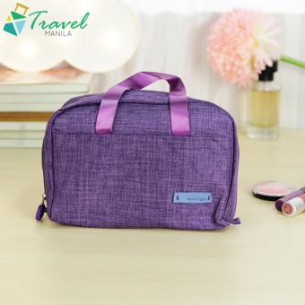 Travel Manila Make Up Kit Cosmetic Toiletry Bag Pouch ( Purple )