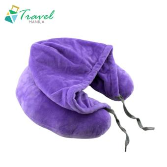 Travel Manila Neck Pillow with Hood (Violet) - New
