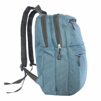 Travel Manila Two Front Pocket Casual Backpack (Navy Blue) - picture 2