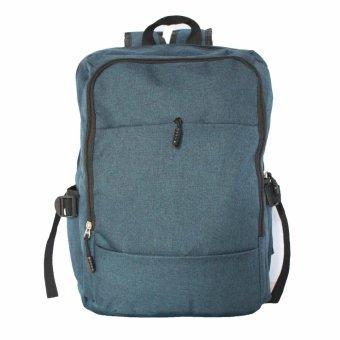 Travel Manila Two Front Pocket Travel Backpack (Blue)