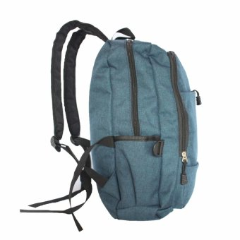 Travel Manila Two Front Pocket Travel Backpack (Blue) - picture 2