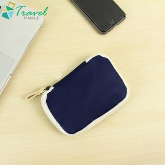 Travel Manila Weekeight Travel Organizer Gadget Pouch Dual Color(Mint/ NavyBlue)