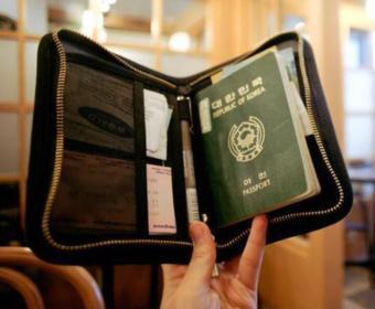 Travel Passport Holder Travel Wallet Pen Holder -Black - 3