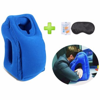 Travel Pillow Neck Pillow with Full Body and Head Support WoollipInflatable Travel Pillow For Airplane/Office Nap/Camping/School