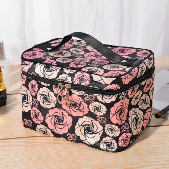 Travel portable ladies' makeup products storage makeup box large cosmetic bag