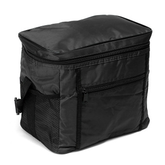 Travel Portable Waterproof Thermal Cooler Insulated Tote Picnic Lunch Ice Bag Black