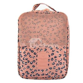 Travel Shoes Organizer Storage Bag Three Layers Waterproof(Leopard)