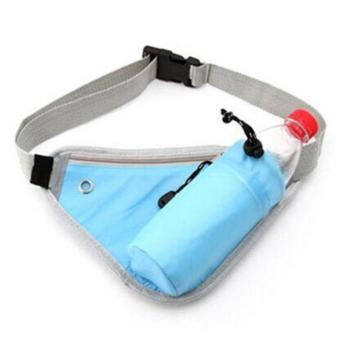 Travel Sport Carry Bag Waist Running Belt Phone Pouch With WaterBottle Pocket
