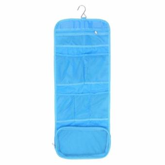Travel Toiletry Hanging Wash Makeup Cosmetic Organizer - Blue