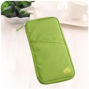 Travel Wallet Passport Ticket Holder Organizer(Green)