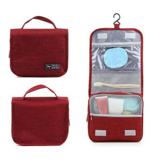 Travel Wash Bag Toiletry Pouch (Burgundy)