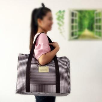 Travel weekender tote bag large capacity luggage foldable waterproof S0514a coffee - 2
