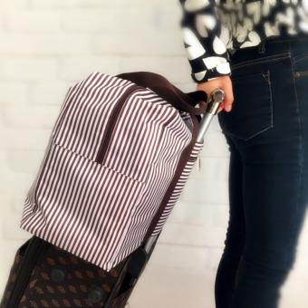 Travel weekender tote bag large capacity luggage foldable waterproof S0514a coffee - 3