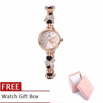 Treasure by B&D WH0025A Heart shape Chain Quartz Casual Women Lady Watch (Rose Gold)