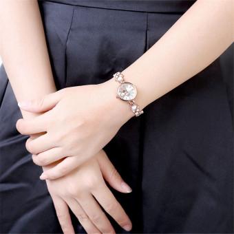 Treasure by B&D WH0025W Heart shape Chain Quartz Casual WomenLady Watch (Rose Gold) - 3