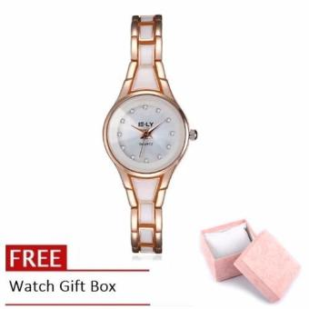 Treasure by B&D WHYYL0001-2 Elegant Fashion Style Chic Lady with Rose Gold Bracelet Casual Quartz Watch