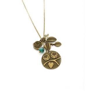 Trinkets for Keeps - Bronze Owl Necklace, Owl Charm, Charm Necklace Price Philippines