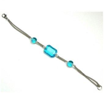 Trrrixii WM Bracelet With 3 FS Stone (Blue)