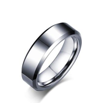 Tungsten Carbide Color Silver Masonic Ring for Men Size 7-12 - intl