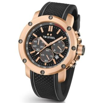 TW Steel Men's Rose Gold Rubber Strap Watch (TS5)