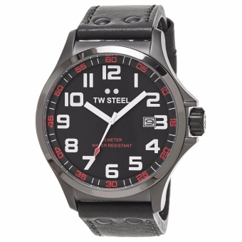 TW Steel Pilot Grey Dial Titanium PVD Stainless Steel Men's Watch TW421