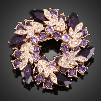 Twinkling Crystal Brooch Breastpin Ornaments Clamp Accessory (Intl)