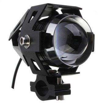 U5 LED Motorcycle Head Light Driving Spot Fog Lamp 125W 3000LM(Black)