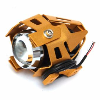 U5 LED Motorcycle Head Light Driving Spot Fog Lamp 125W 3000LM(Gold)