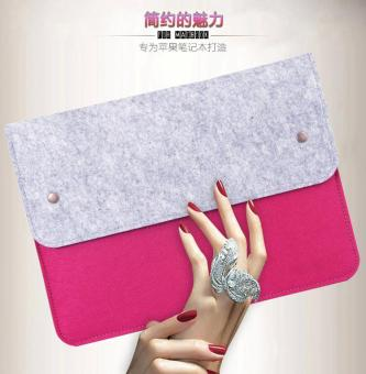 Ultra-Thin Protective Felt Sleeve Envelope Case Pouch Bag For AppleMacBook Pro / MacBook Air/ Retina 13 - 14 Inch - 4