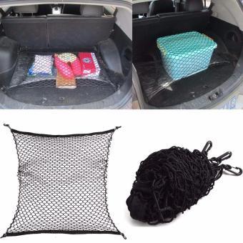 Ultralite Car Trunk Truck/Van Rear Cargo Organizer Storage Elastic Nylon Mesh Net Holder (Black) - 5