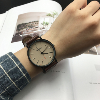 Ulzzang Korean version of female retro leather belt watch