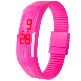 Unisex Bracelet LED Watch (Pink)