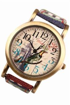 Unisex Classic Ethnic Leather Weave Strap Wrist Watch