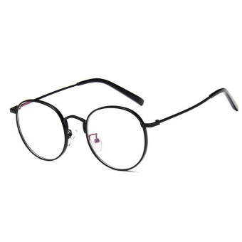 Unisex Fashion Retro Pure Metal Round Frame Eye Glasses - intl