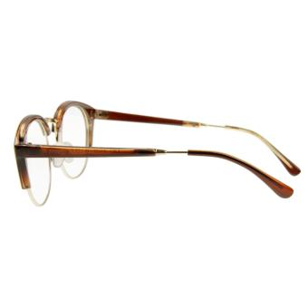 Unisex Glasses, Plain Glasses Eyeglasses Women Men Sexy Cat EyeHalf Frame Reading Glasses Spectacles Computer TV RadiationProtection Glasses Greek Clear Lens Glasses with Free Case DarkBrown - intl - 3