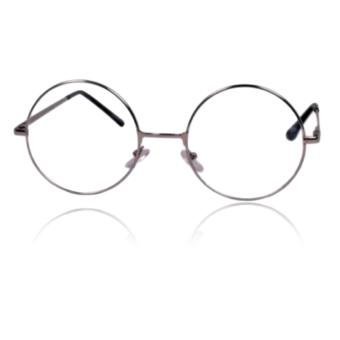 Unisex Round Metal Frame Clear Lens Nerd Spectacles Eye Glass(Harry Potter) (Silver)