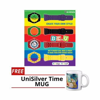 UniSilver TIME Be U Interchangeable Rubber Analog Watch (KW1572-A)