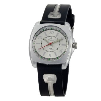 UniSilver TIME coniq Dreamer Women's Black / Translucent White / Silver Analog Rubber Watch KW1006-2103