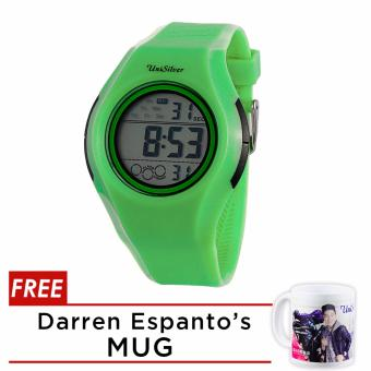 UniSilver TIME Darren Espanto's Digital Rubber Black / Green KW2213-1008 Watch WITH FREE MUG