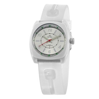 UniSilver TIME Iconiq Dreamer Women's White / Translucent White / Silver Analog Rubber Watch KW1006-2104