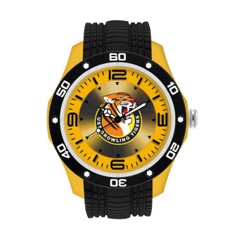 UniSilver TIME UAAP UNIVERSITY OF SANTO TOMAS Growling Tigers Unisex Yellow/Black Rubber Watch KW2174-1001