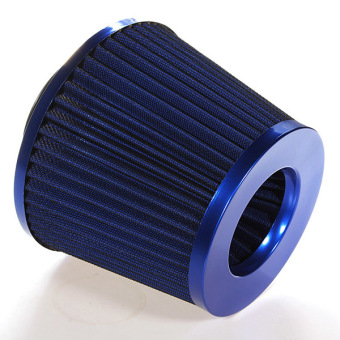 Universal Car Air Filter Vehicle Induction High Power Mesh Cone Blue