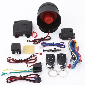 Universal Car Alarm Security Protection System Keyless Entry with 2Remote Controls Siren - intl Price Philippines