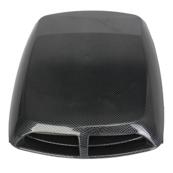 Universal Carbon Car Decorative Air Flow Intake Scoop Hood Bonnet Vent Cover New - intl
