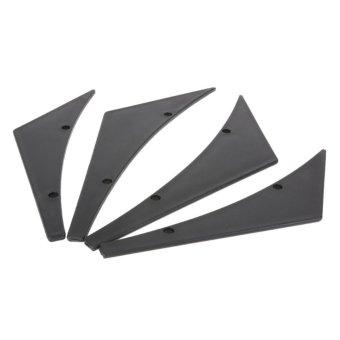 Universal Fit Front Bumper Lip Splitter Fins Body Spoiler CanardsValence - intl - 5