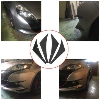 Universal Fit Front Bumper Lip Splitter Fins Body Spoiler CanardsValence - intl - 3