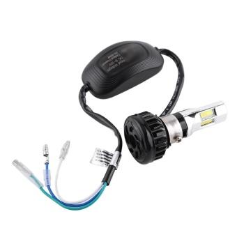 Universal Motorcycle 9V-18V LED Headlight High/Low Beam Front LightBulb Lamp 3500lm 3 LEDs - intl - 4