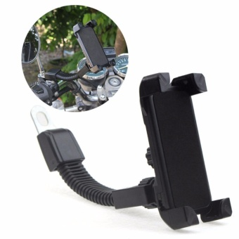 Universal Motorcycle Motorbike Mirror Mount Holder Grip Stand forPhone GPS (Black)