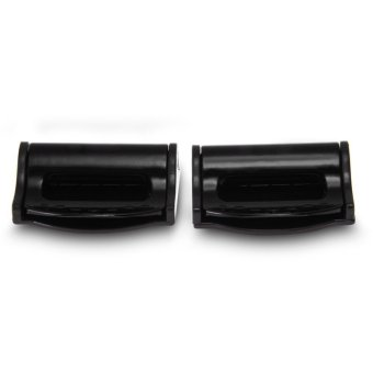 Universal Pair Safety Plastic Car Auto Seat Belt Seatbelt ClipStopper Buckle (Black)
